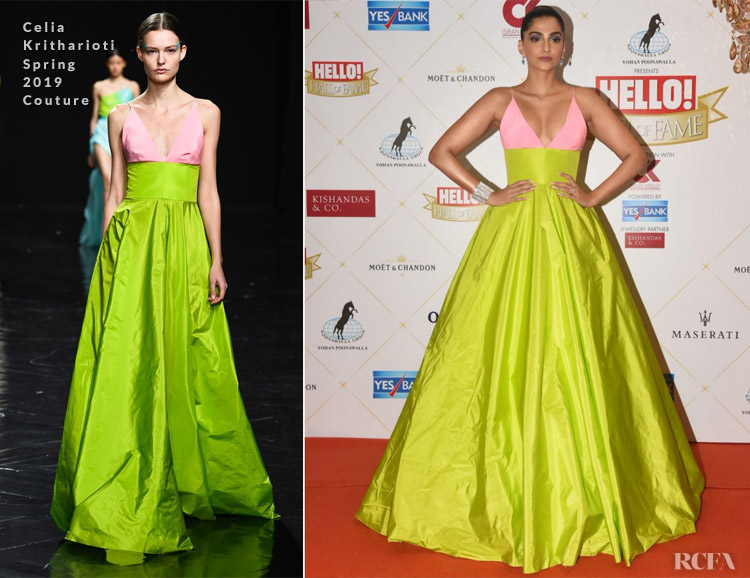 Sonam Kapoor In Celia Kritharioti S19 Couture - Hello Hall Of Fame Awards 2019