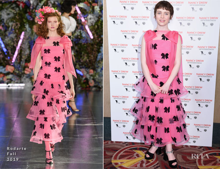 Sophia Lillis In Rodarte - 'Nancy Drew and the Hidden Staircase' LA Premiere