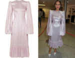 Zawe Ashton's The Vampire's Wife Festival Metallic Dress