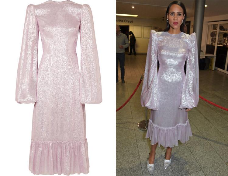 Zawe Ashton's The Vampire's Wife Festival Metallic Dress