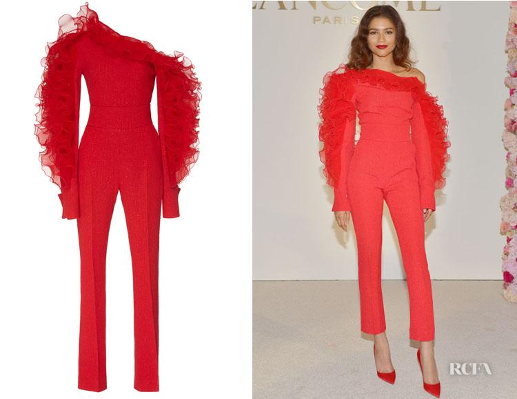 Zendaya Coleman's David Koma Asymmetric Ruffle Jumpsuit