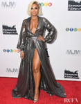 Ashanti's Metallic Moment For The 'Stuck' New York Premiere