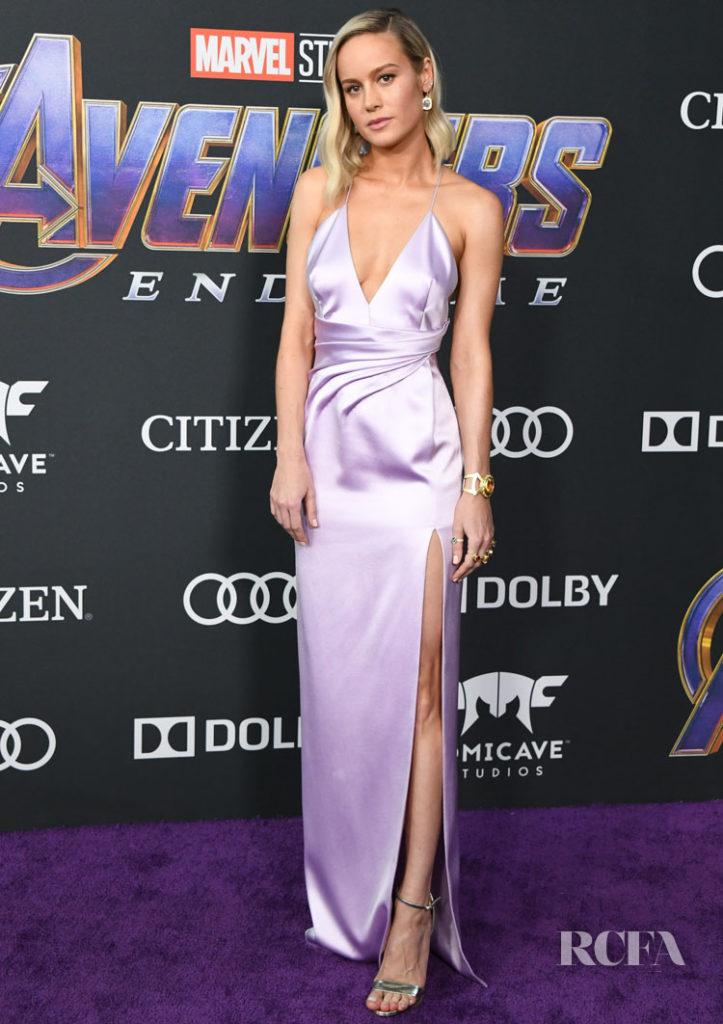 Brie Larson In Celine 'Avengers: Endgame' LA Premiere