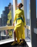 Brie Larson Off-White In Yellow
