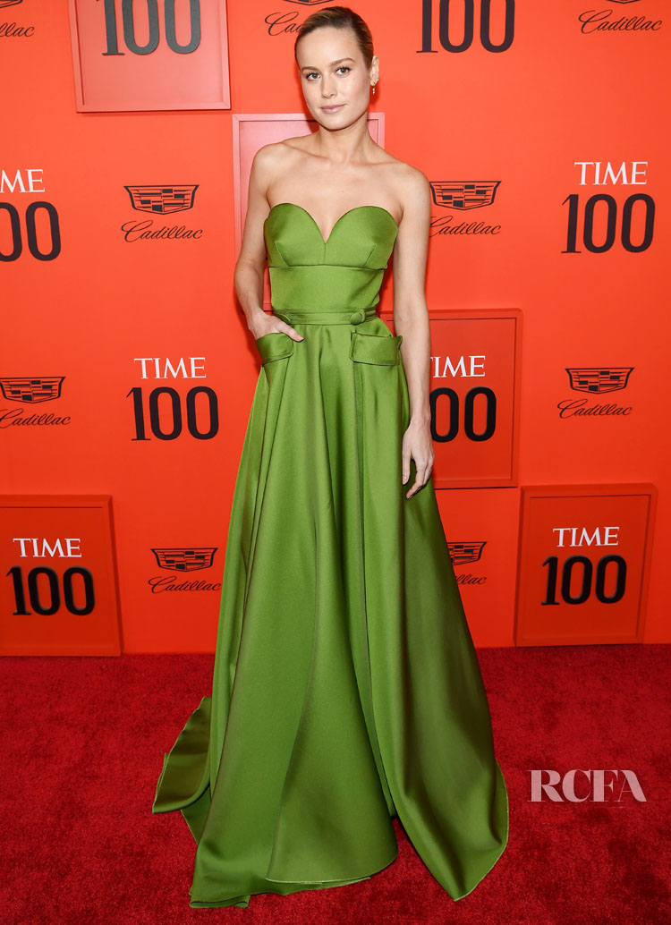 Brie Larson In Goddess Green For The TIME 100 Gala