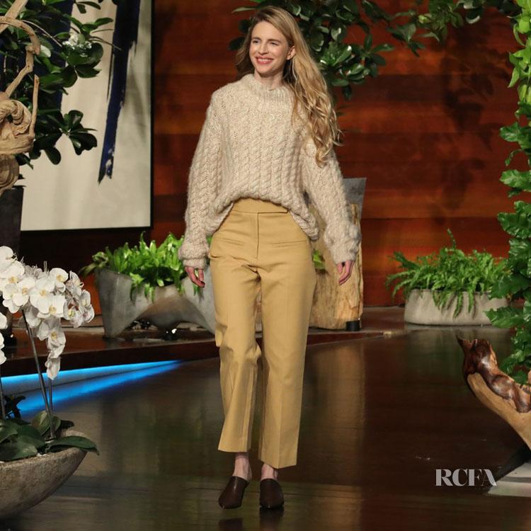 Brit Marling Opts For Warm Camel Tones On 'The Ellen DeGeneres Show'