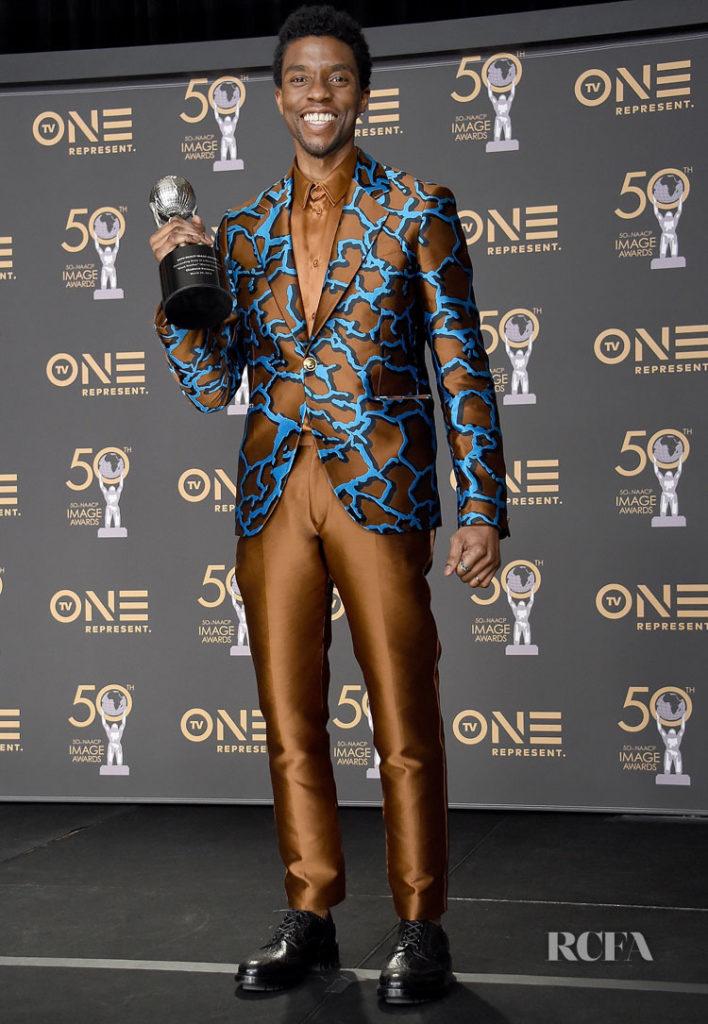 Chadwick Boseman In Atelier Versace - 2019 NAACP Image Awards