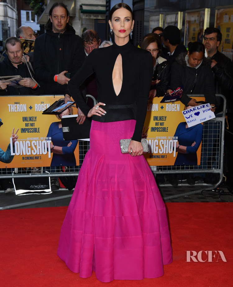 Charlize Theron's Parisian Chic Style For The London & Paris 'Long Shot' Premieres