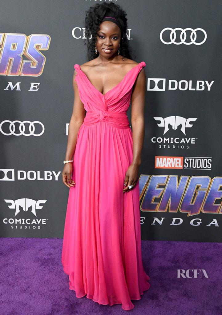 Danai Gurira In Oscar de la Renta - 'Avengers: Endgame' LA Premiere
