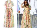 Drew Barrymore's Rosie Assoulin Printed Dress