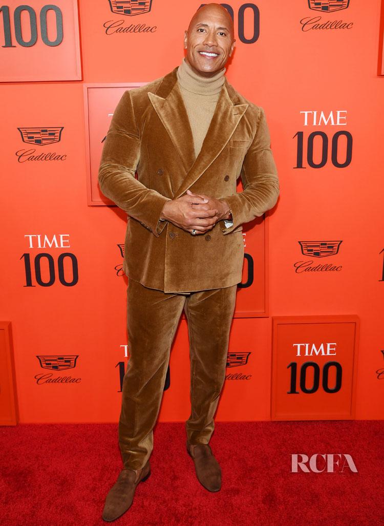 Dwayne Johnson Goes Retro In Velvet For The TIME 100 Gala
