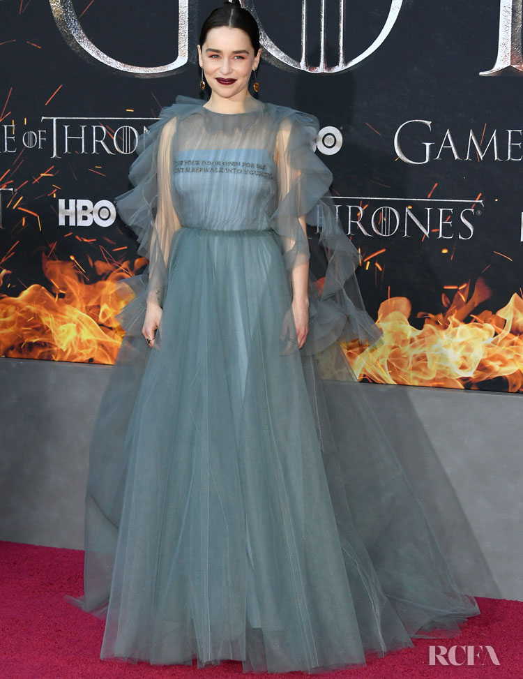 Emilia Clarke In Valentino - 'Game Of Thrones' Season 8 New York Premiere