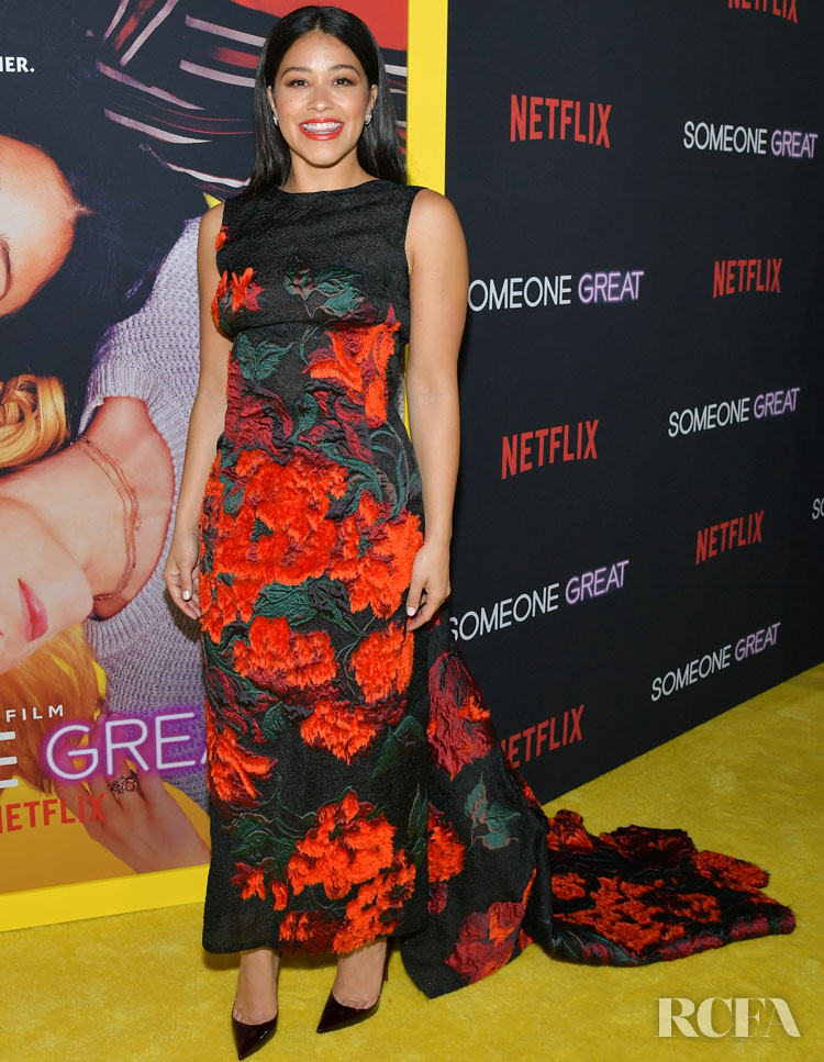 Gina Rodriguez Wears Oscar de la Renta For The 'Someone Great' Netflix Screening