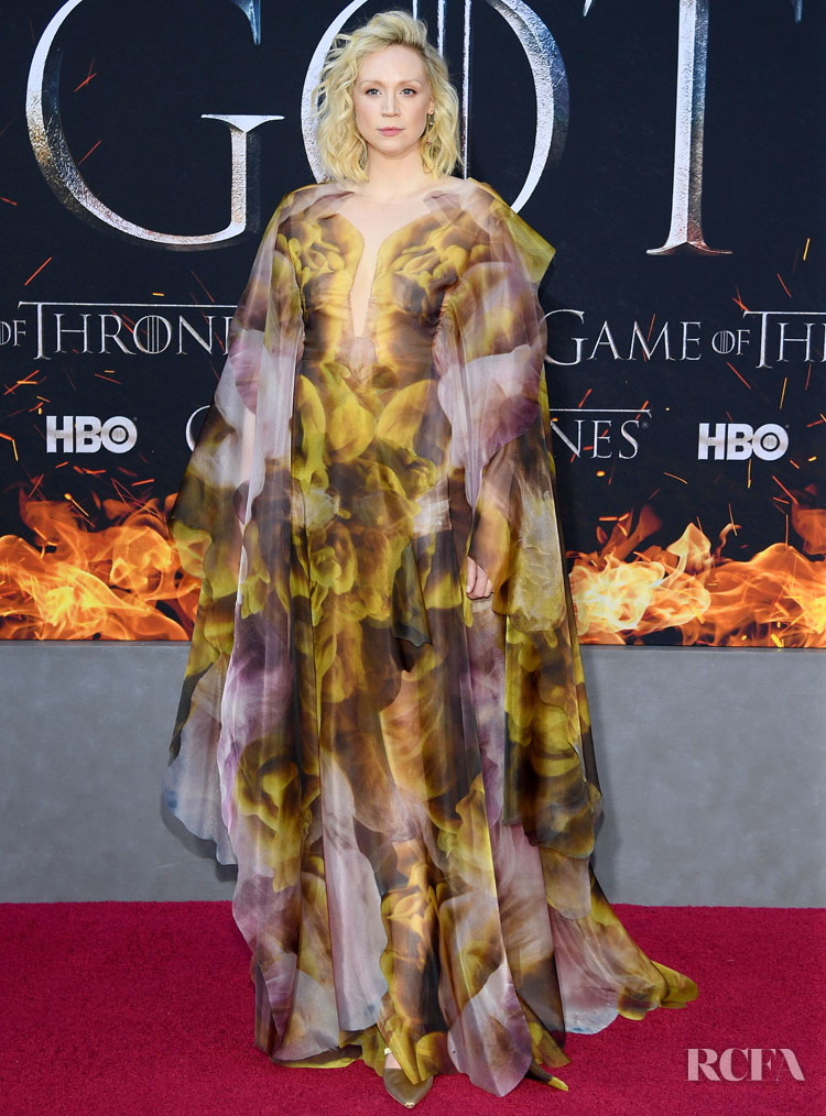 Gwendoline Christie In Iris van Herpen Haute Couture - 'Game Of Thrones' Season 8 New York Premiere