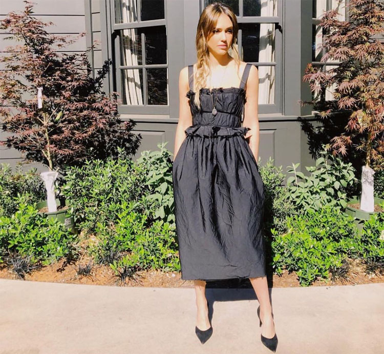 Jessica Alba Is Back In Black Promoting 'LA's Finest'