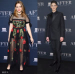 Josephine Langford In Elie Saab & Hero Fiennes-Tiffin In Dior Men - 'After' Paris Screening