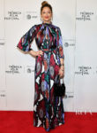 Judy Greer, Colourful In Carolina Herrera For The 'Buffaloed' Tribeca Film Festival Premiere