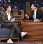 KJ Apa Is Suave In A Floral Suit For The Tonight Show Starring Jimmy Fallon