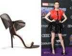 Karen Gillan's Jimmy Choo Aveline Grosgrain-Bow Sandals