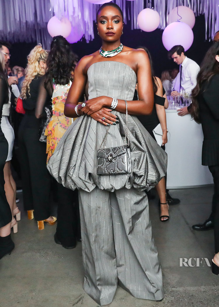 Kiki Layne Goes Grey At The BVLGARI x Vanity Fair Film Premiere