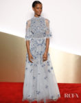 Letitia Wright Had The Blues At The 'Clash De Cartier' Launch Photocall