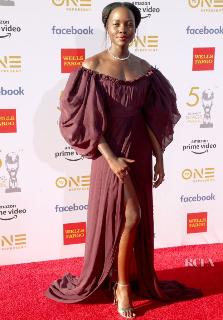 Luptia Nyong'o In Giambattista Valli Haute Couture - 2019 NAACP Image Awards