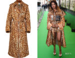 M.I.A.'s Burberry Animal-Print Gabardine Trench Coat
