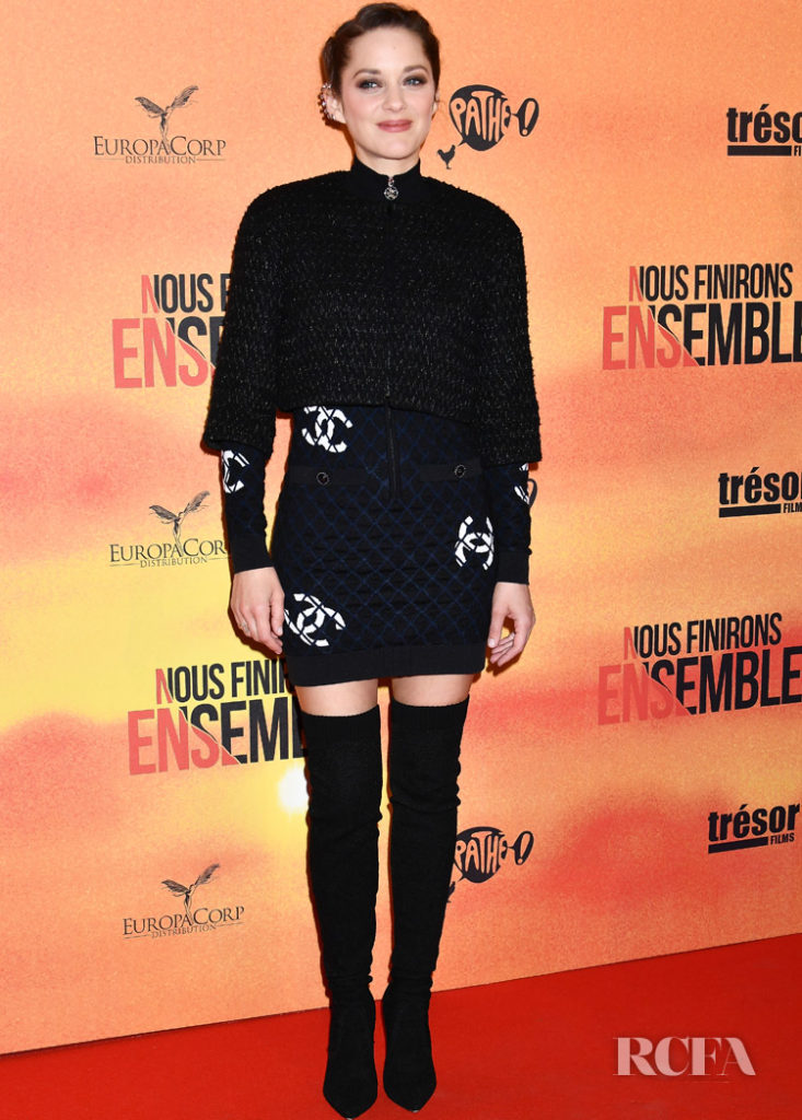 Marion Cotillard In Chanel -  'Nous Finirons Ensemble' Paris Premiere