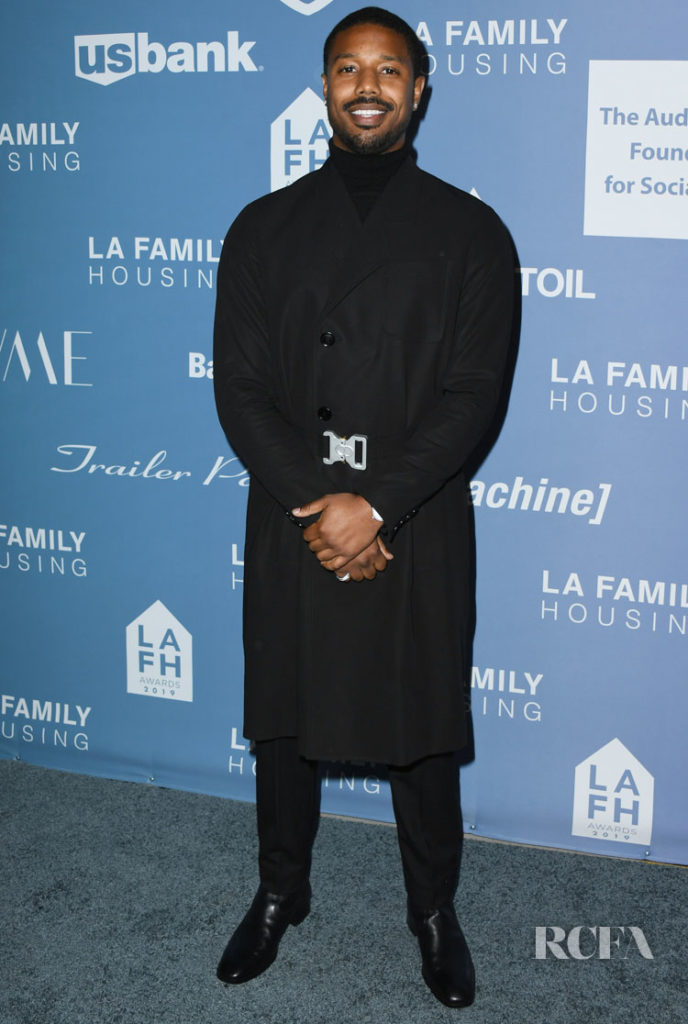 Michael B Jordan In Dior Men - LAFH Awards