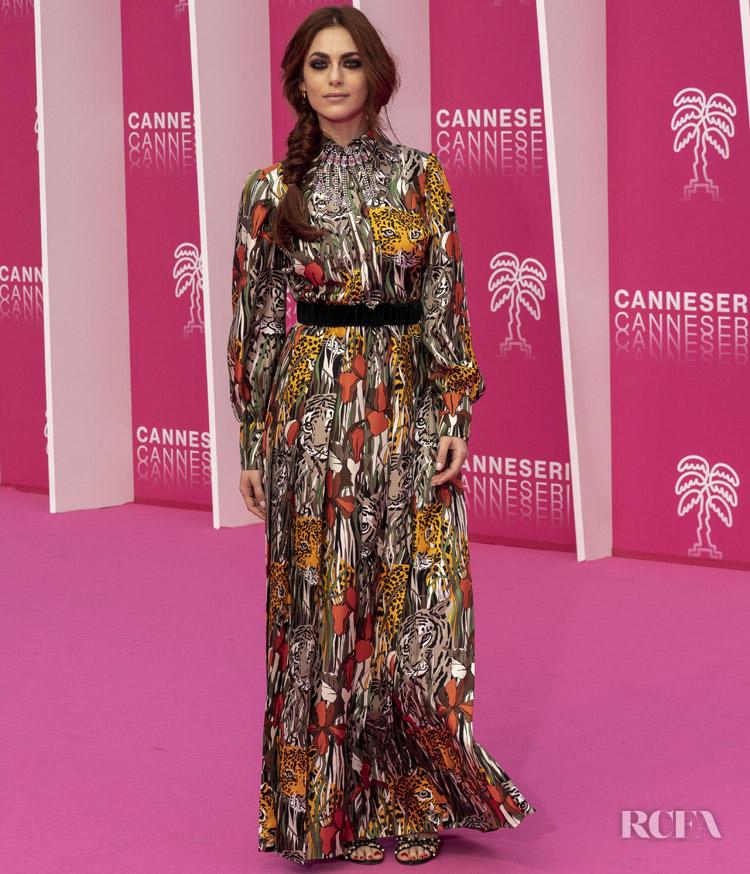 Miriam Leone In Gucci Canneseries International Series Festival