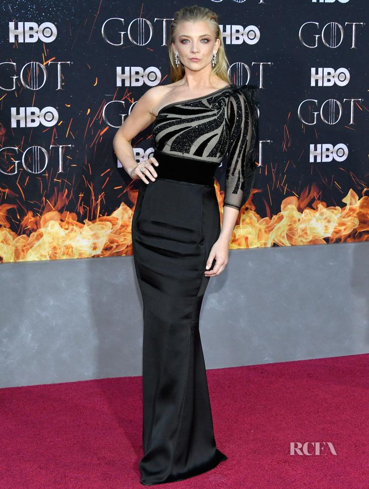 Natalie Dormer In Giorgio Armani - 'Game Of Thrones' Season 8 New York Premiere