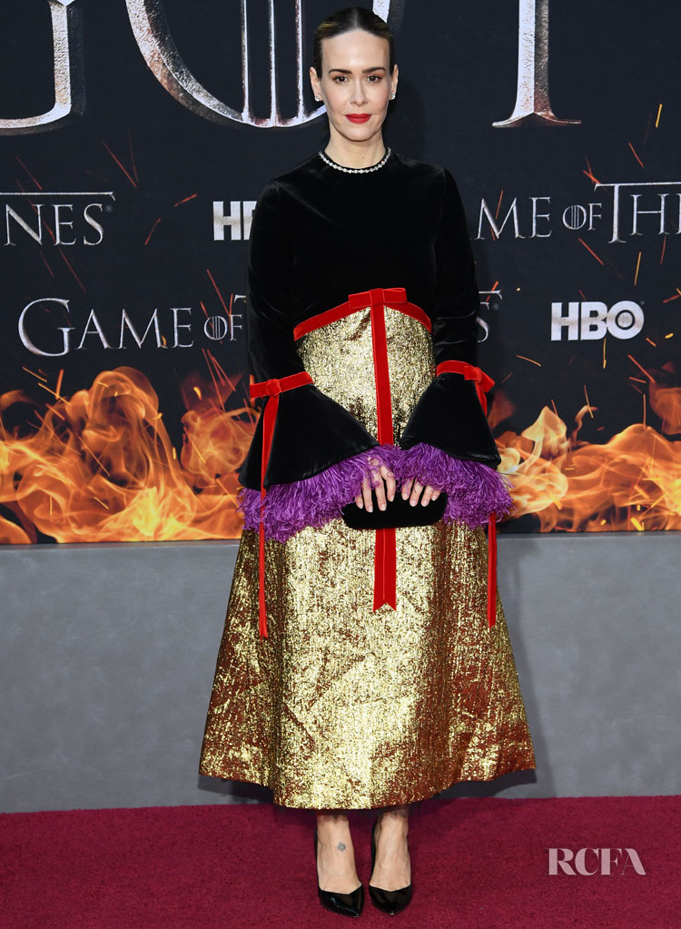 Sarah Paulson In Gucci - 'Game Of Thrones' Season 8 New York Premiere