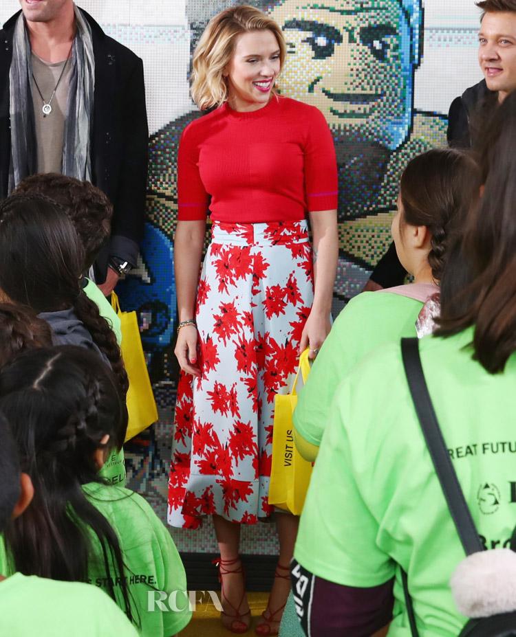 Scarlett Johansson in Proenza Schouler - Avengers Universe Unites