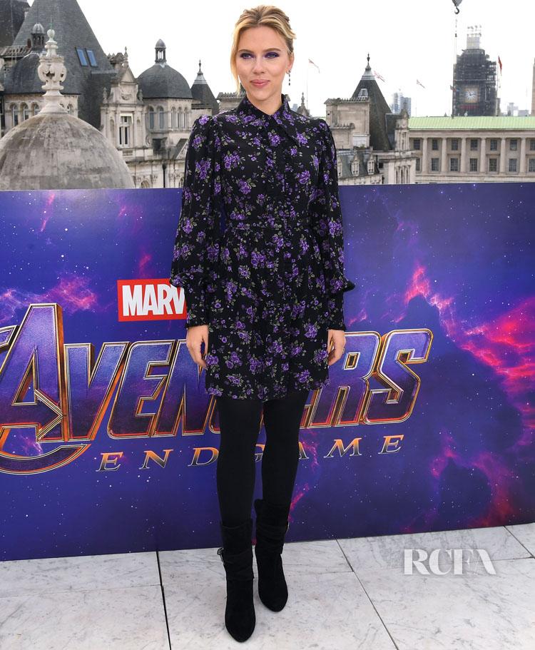 Scarlett Johansson In Michael Kors Collection - 'Avengers: Endgame' London Photocall