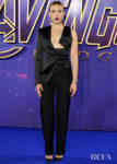 Scarlett Johansson Rocks A Tuxedo With A Twist For The 'Avengers: Endgame' Fan Event