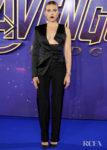 Scarlett Johansson Rocks A Tuxedo With A Twist For The 'Avengers: Endgame' Fan Event