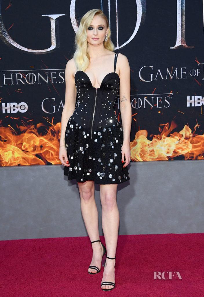 Sophie Turner In Louis Vuitton - 'Game Of Thrones' Season 8 New York Premiere