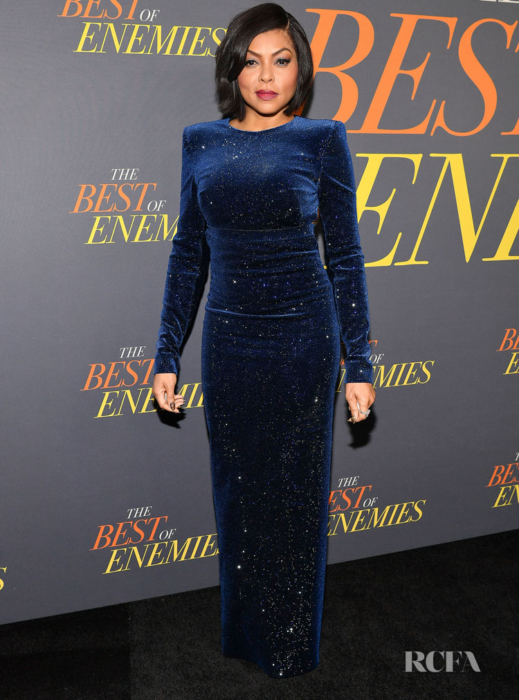 Taraji P. Henson In Philosophy Di Lorenzo Serafini - 'The Best Of Enemies' New York Premiere