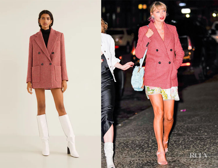 Taylor Swift's Mango Houndstooth Coat