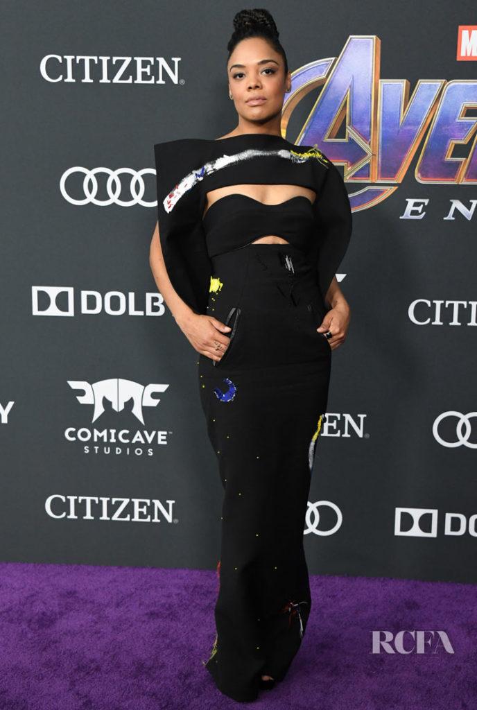 Tessa Thompson In Ronald van der Kemp Haute Couture 'Avengers: Endgame' LA Premiere