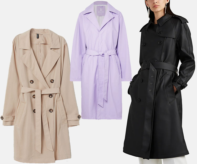 5df7aaf6 H&M Lightweight Trenchcoat · Rains Matte-PU Trench Coat · Burberry  Westminster Trench Coat