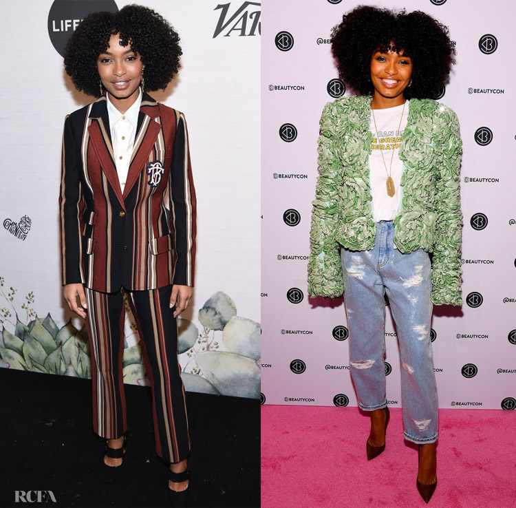 Yara Shahidi In Tory Burch & Balmain Variety's Power Of Women: New York event and Beautycon Festival