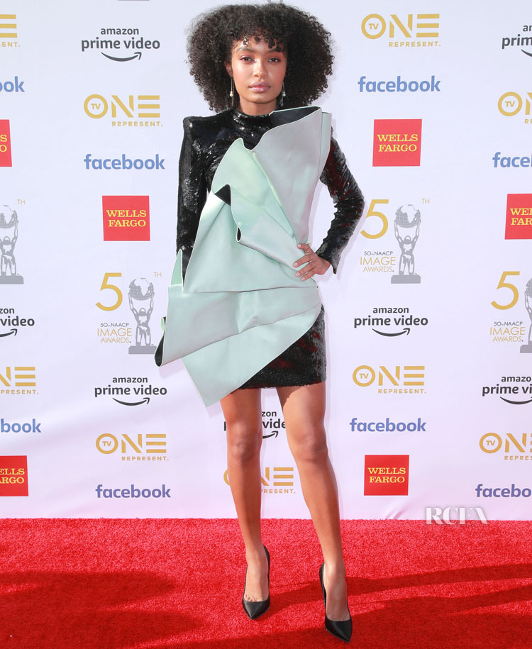 Yara Shahidi In Balmain - 2019 NAACP Image Awards