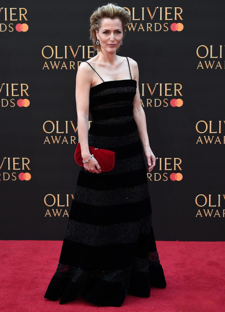 Gillian Anderson in Armani Prive 2019 Laurence Olivier Awards
