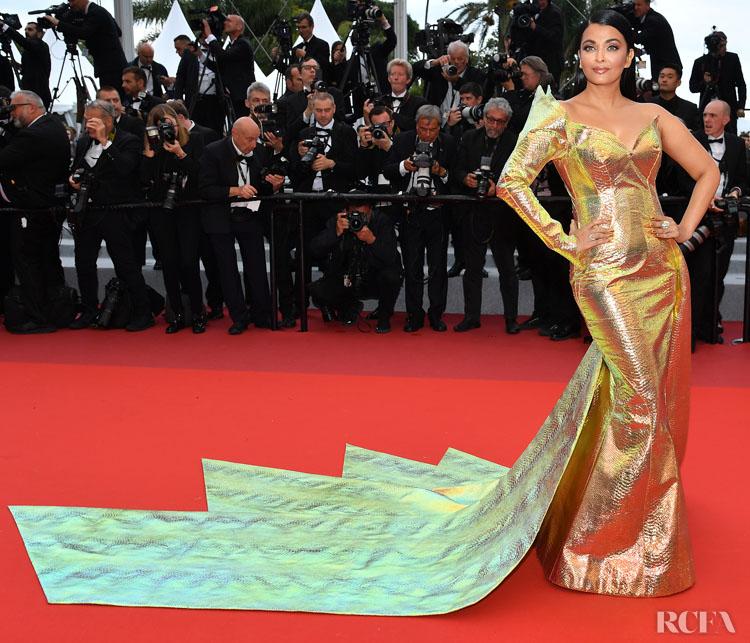 Aishwarya Rai In Jean-Louis Sabaji Couture - 'A Hidden Life' Cannes Film Festival Premiere