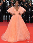Aja Naomi King In Zac Posen - 'A Hidden Life' Cannes Film Festival Premiere
