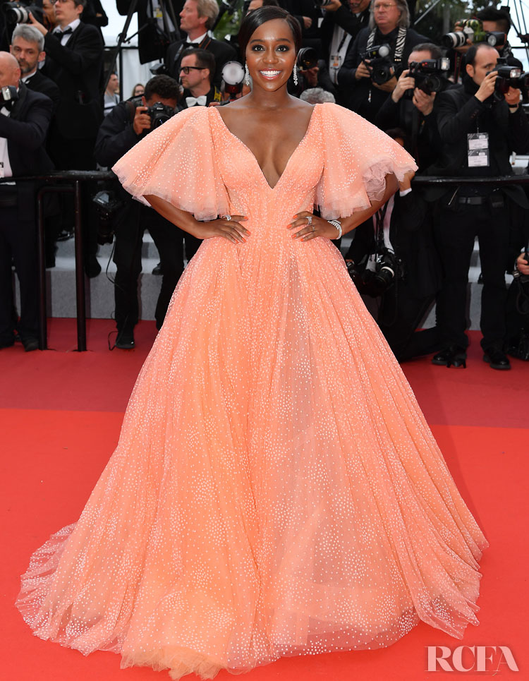 Aja Naomi King In Zac Posen - A Hidden Life' Cannes Film Festival Premiere