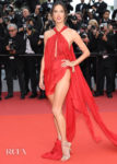 Alessandra Ambrosio In Julien Macdonald - 'Les Miserables' Cannes Film Festival Premiere