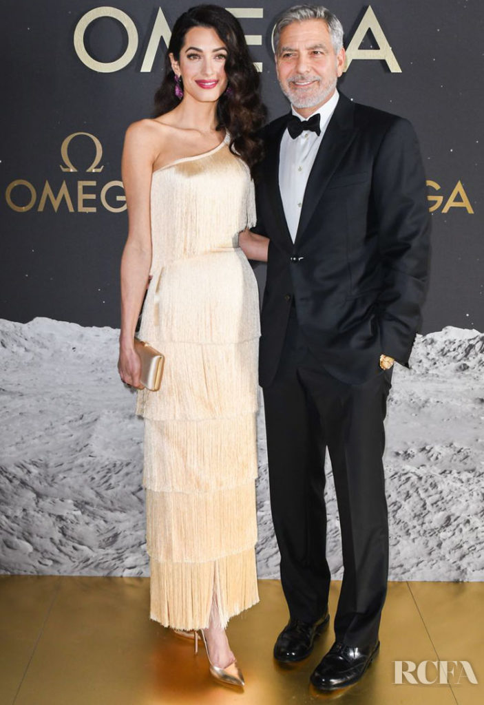 Amal Clooney In Armani Prive - OMEGA 50th Anniversary Moon Landing event