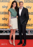 Amal Clooney Joins George For The 'Catch-22' Rome Photocall